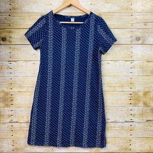 Old Navy T Shirt Mini Dress Blue White Medium